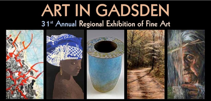Multiple images from 2019 Art in Gadsden Exhibition
