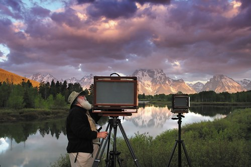 Clyde Butcher with camera in Oxbow Bend
